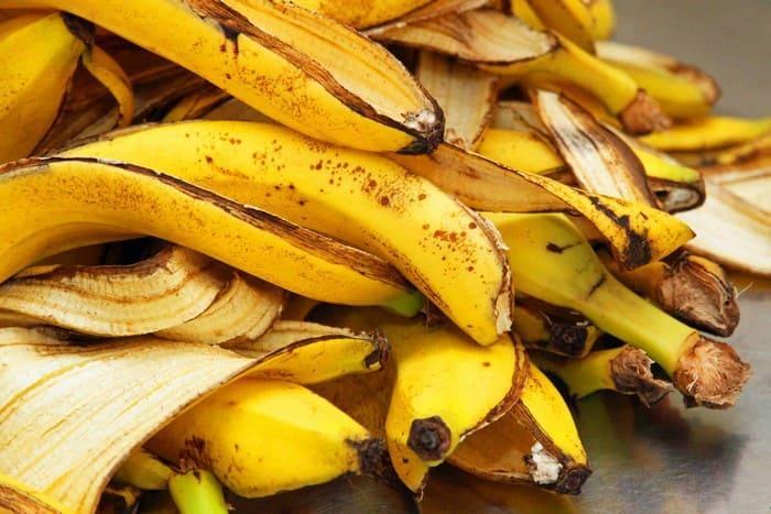 Кожура созревшего банана