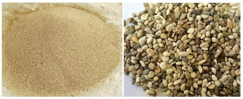 В качестве грунта можно использовать песок или округлую гальку