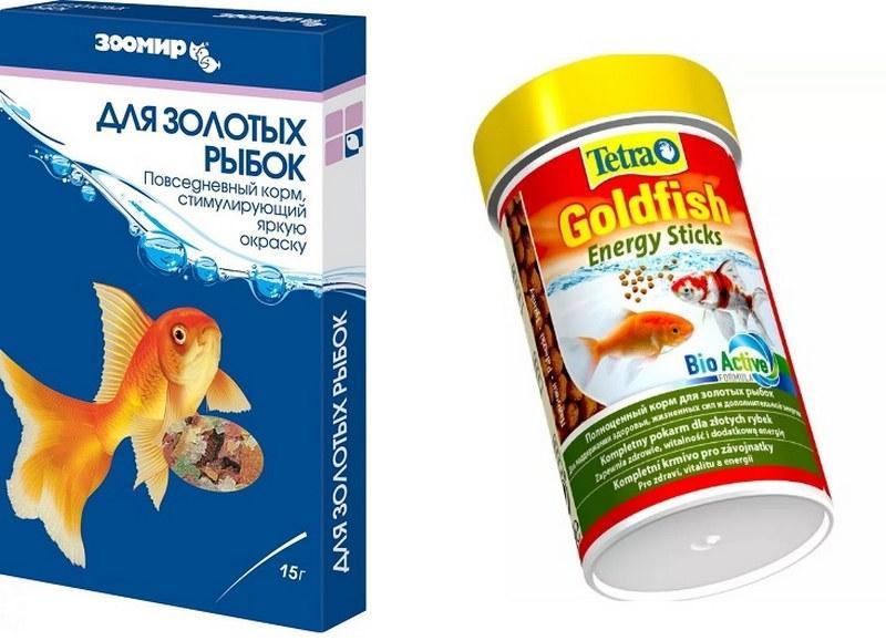 Кормить золотых рыбок рекомендуется специализированными кормами