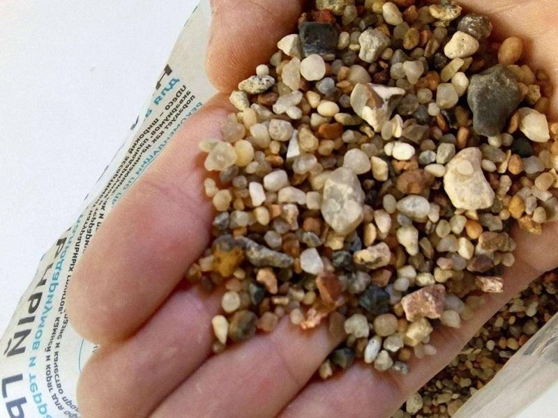 Крупный песок для аквариума